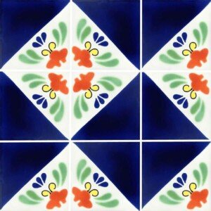 Ceramic Martha Arlequin Talavera Mexican Tile