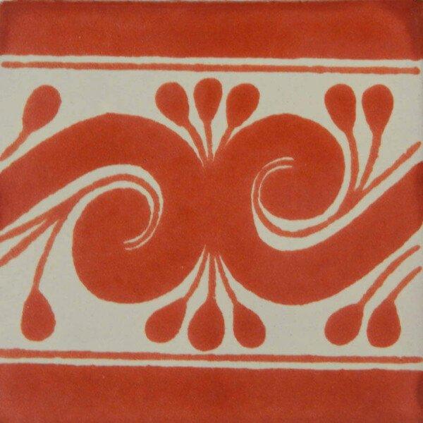 Terracotta Gusano Mexican Ceramic Tile