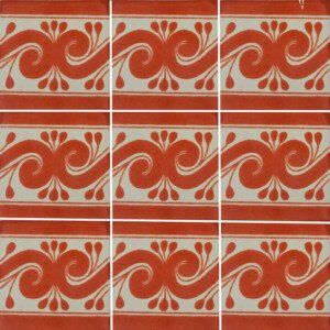 Terracotta Gusano Mexican Ceramic Tile