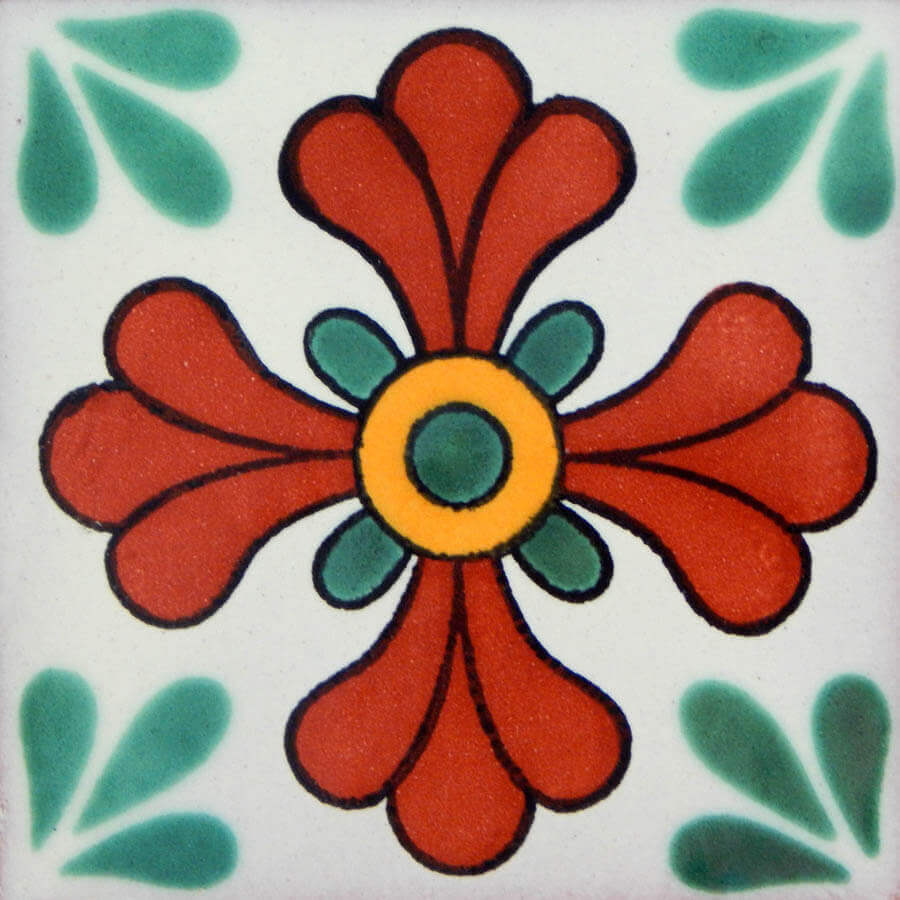 Seville Green Mexican Ceramic Tile Are Handmade In Mexico