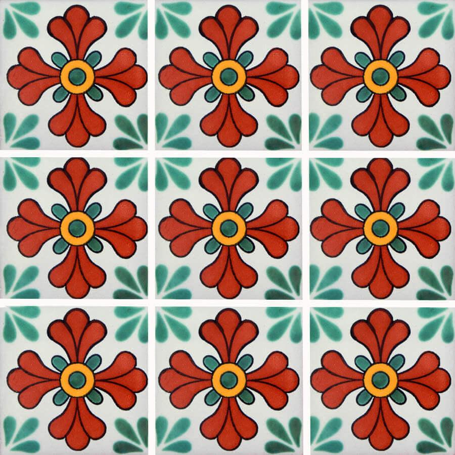 Seville Green Mexican Ceramic Tile