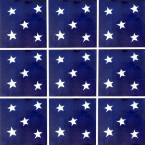 Estrellas Mexican Talavera Tile