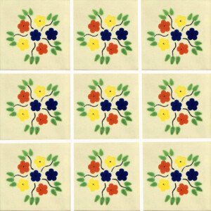 Bouquet Mexican Ceramic Tile