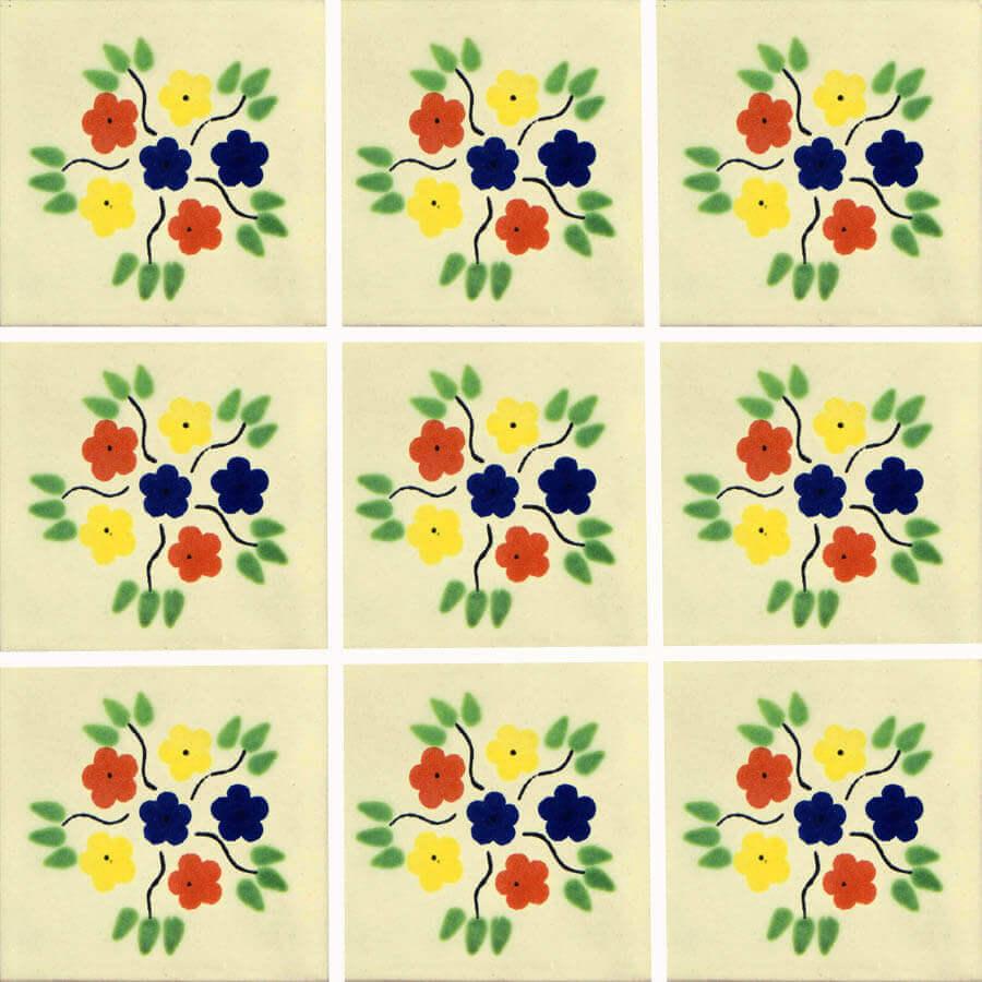 Bouquet Mexican Ceramic Tile