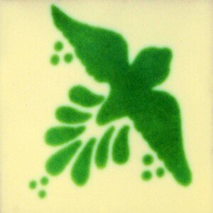 Fly Green Mexican Talavera Tile