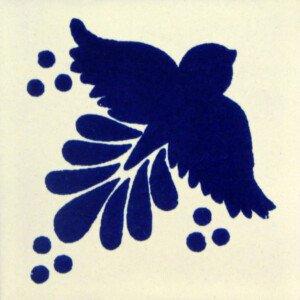 Blue Fly Mexican Talavera Tile
