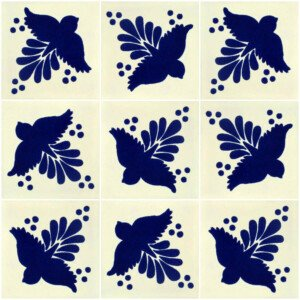 Blue Fly Mexican Talavera Tile