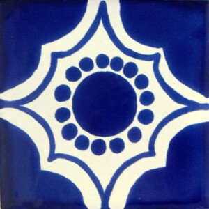 Blue Arabesque Mexican Ceramic Tile