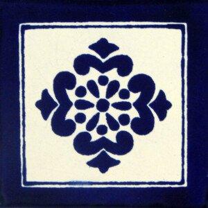 Anita Blue Mexican Ceramic Tile
