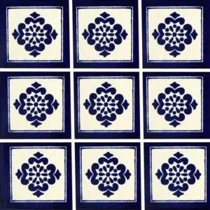 Anita Blue Mexican Ceramic Tile