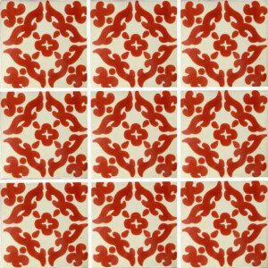 Barroco Terracotta Mexican Ceramic Tile