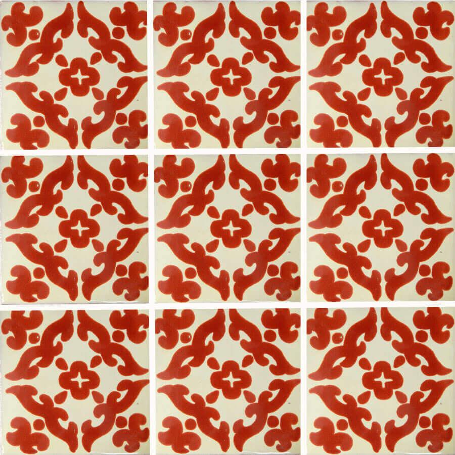 Barroco Terracotta Mexican Ceramic Tile