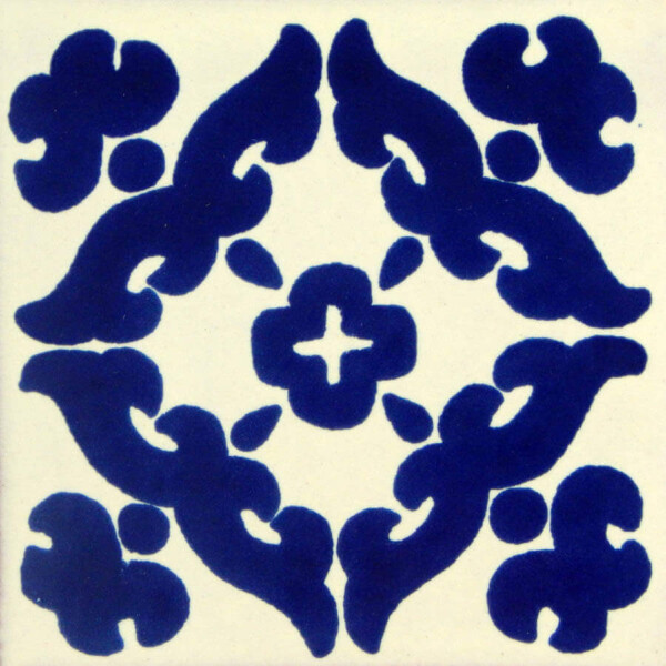 Barroco Blue Mexican Talavera Tile