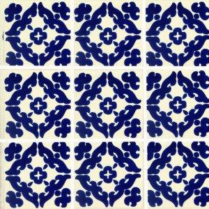 Barroco Blue Mexican Talavera Tile