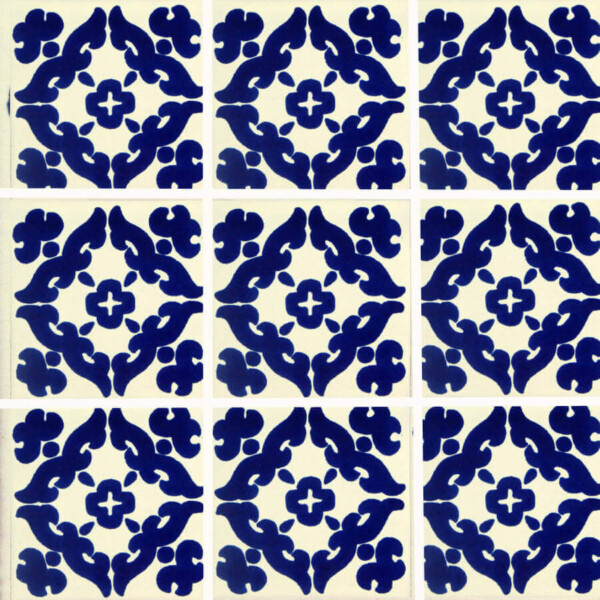 barroco blue mexican talavera tile are handmade and painted in mexico