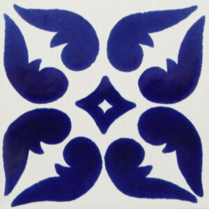 Blue Leon Mexican Ceramic Tile