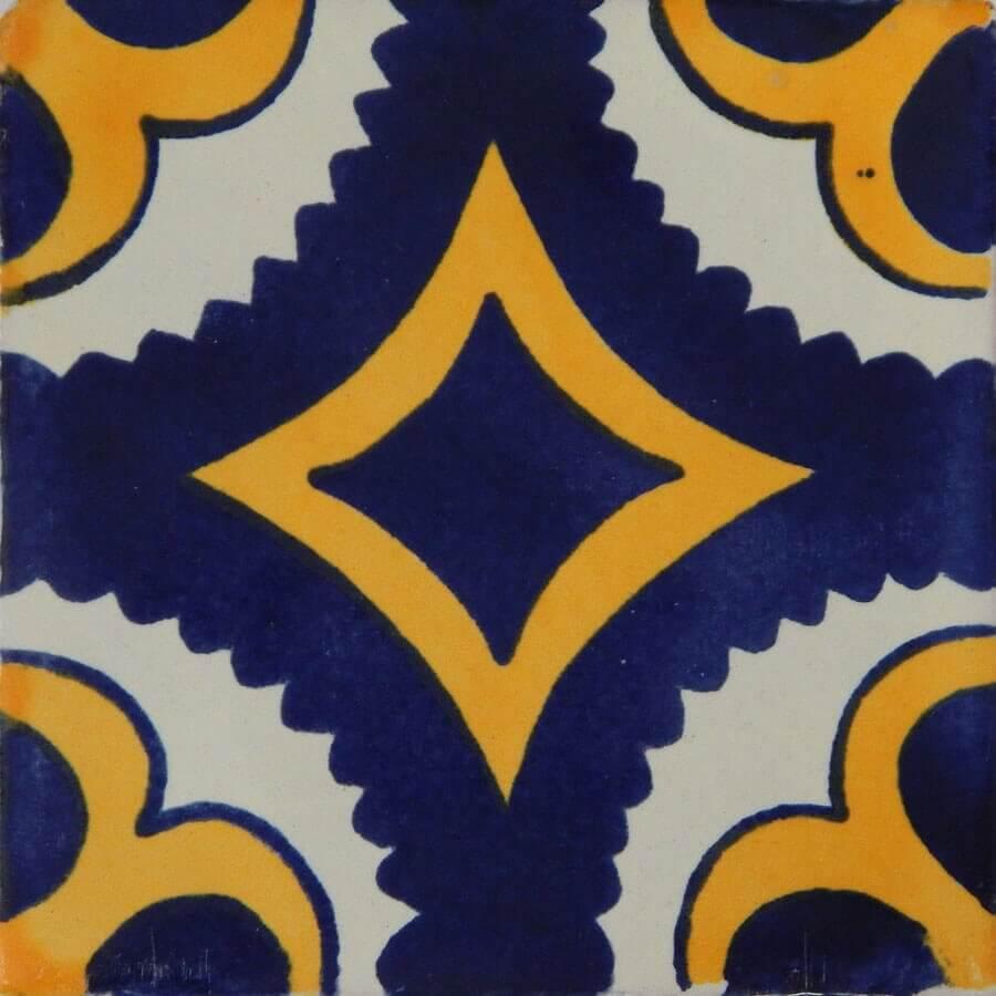 Puebla II Mexican Ceramic Tile