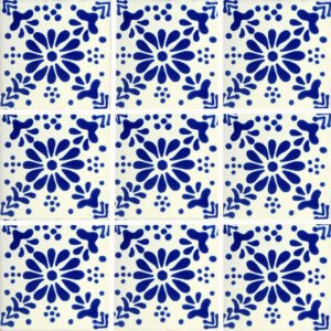 Freezer Mexican Talavera Tile