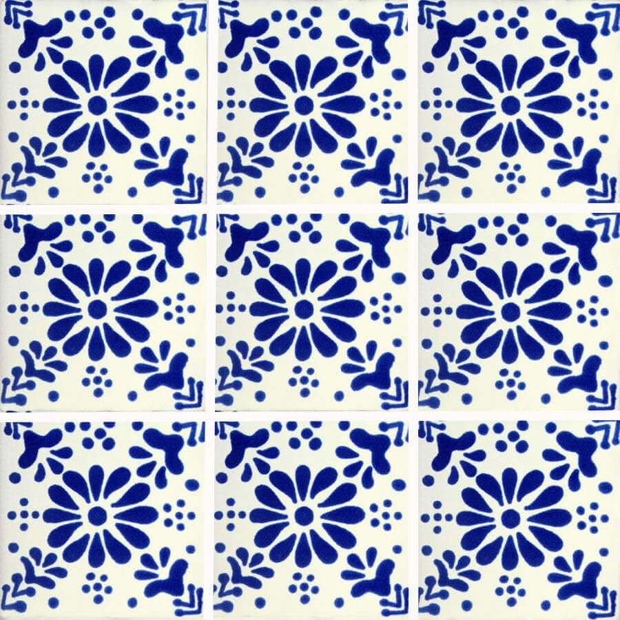 Freezer Mexican Talavera Tile