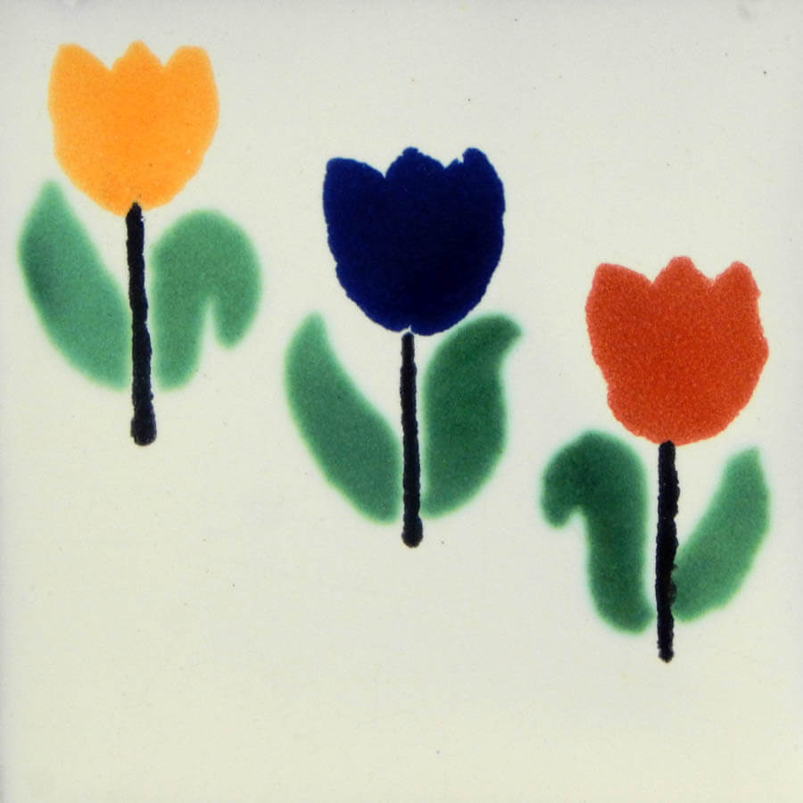 Tulipanes Mexican Ceramic Tiles