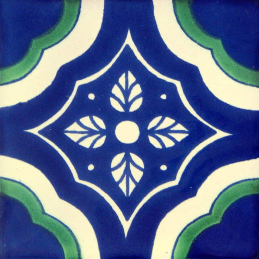 Palacio Green Mexican Talavera Tile