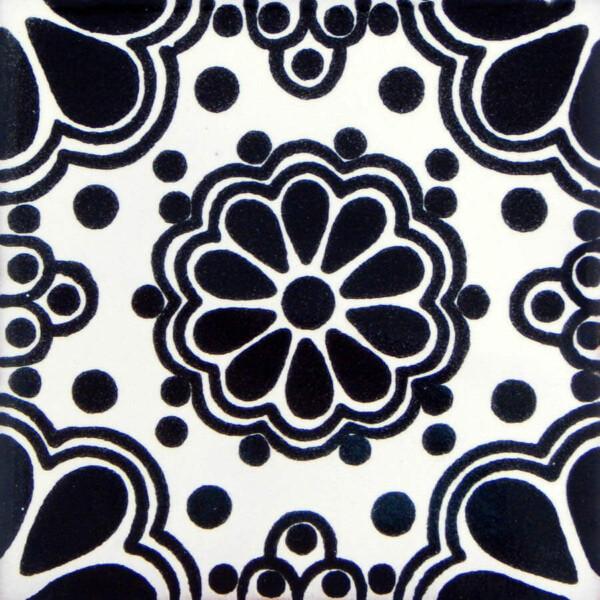 Black Lace Mexican Ceramic Tile