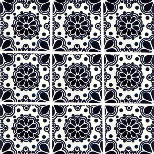 Black Lace 3 Mexican Ceramic Tile