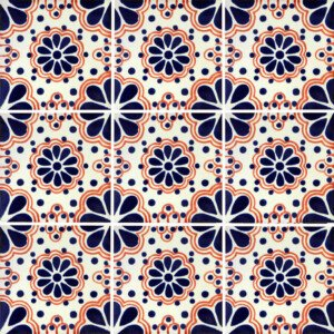 Blue Lace 4 Mexican Ceramic Tile