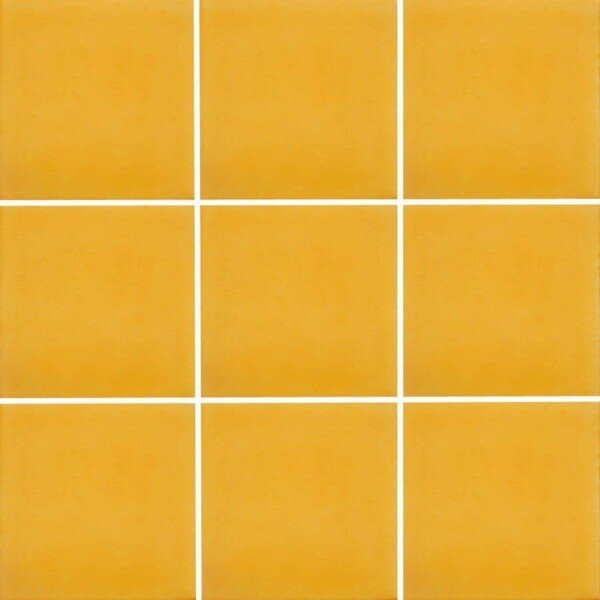 Washed Yellow Mexican Ceramic Tile Handmade In Mexico