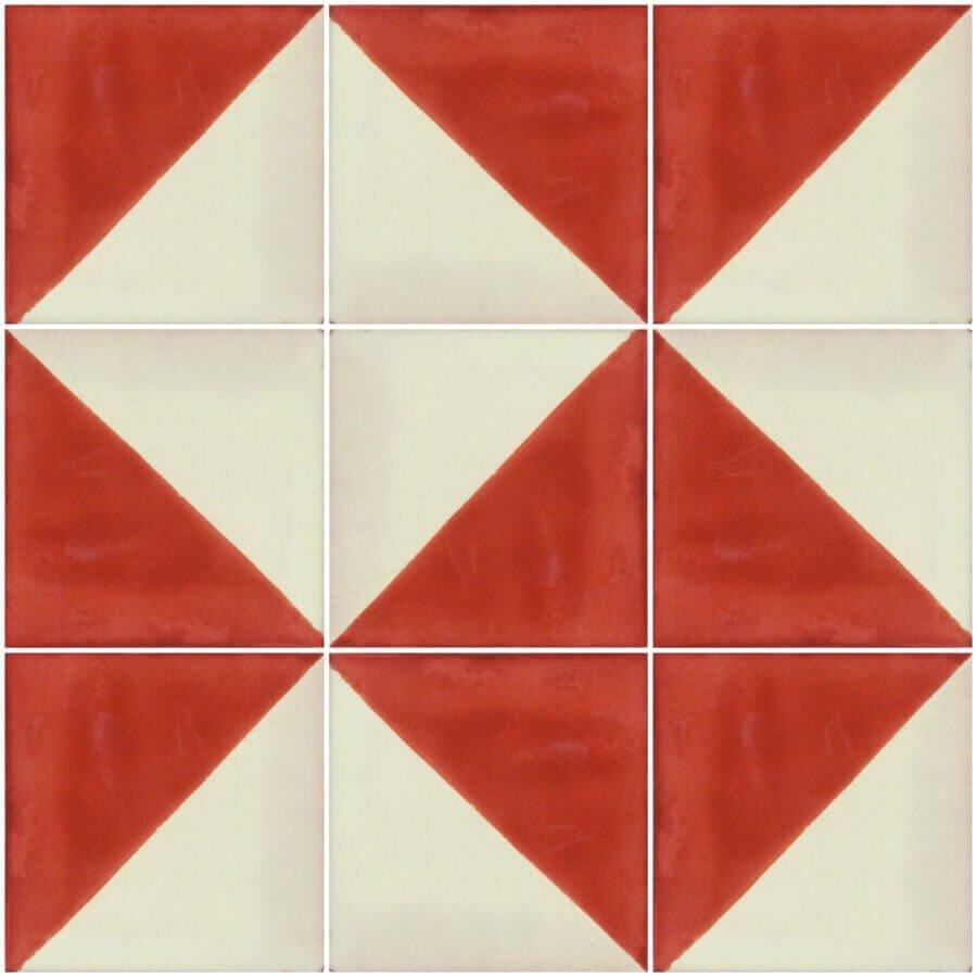 Terracotta Arlequin Mexican Ceramic Tile