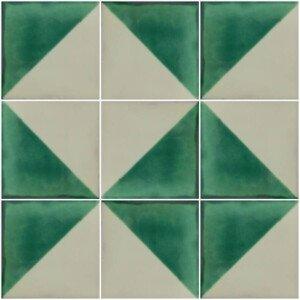 Arlequin Green Mexican Ceramic Tile