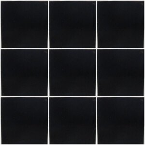 Washed Black Mexican Ceramic Tile