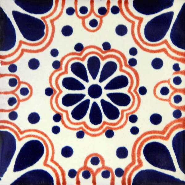 Blue Lace 4 Mexican Ceramic Tile