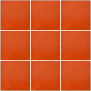 Washed Orange Mexican Ceramic Tiles