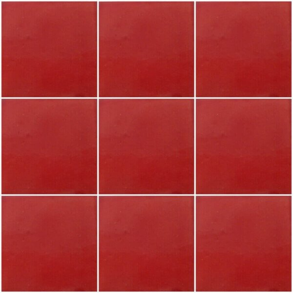 Washed Red Mexican Ceramic Tile Are Handmade In Mexico