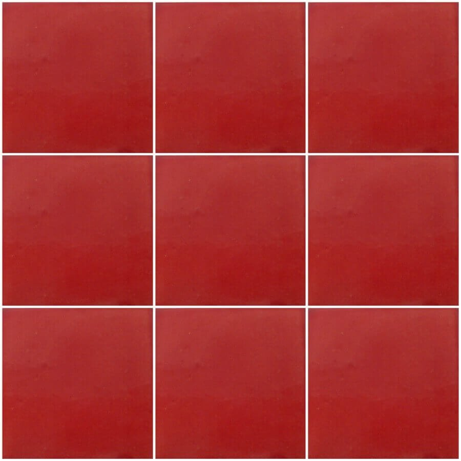 Washed red Mexican Ceramic Tile