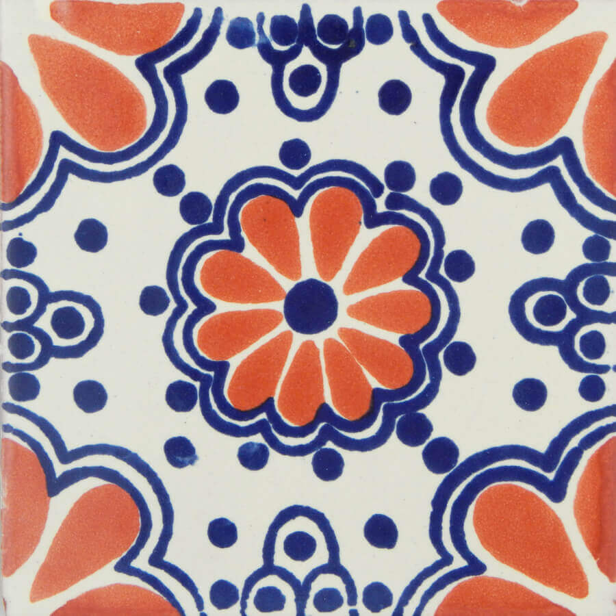 Terracotta Lace 7 Mexican Ceramic Talavera Tile