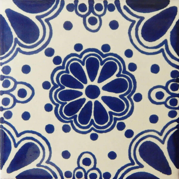 Blue Lace 8 Mexican Ceramic Talavera Tile