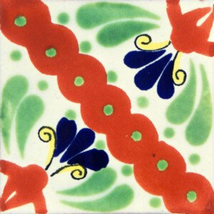 Martha Mexican Ceramic Talavera Tile
