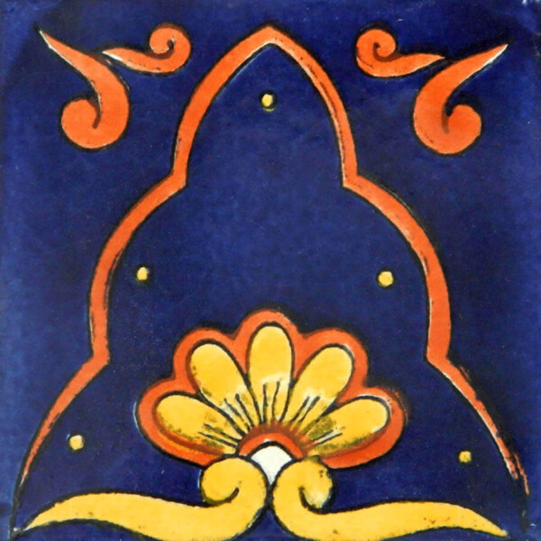 Blue Amanecer Mexican Ceramic Talavera Tile