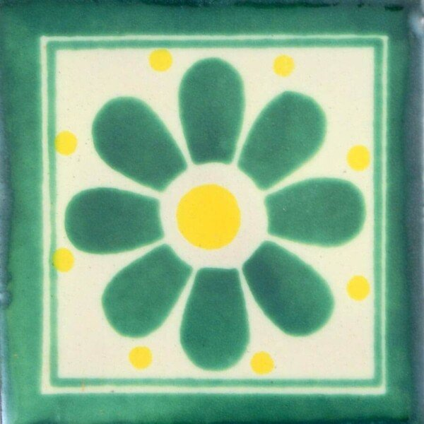 Daisy May 2 Mexican Ceramic Tile
