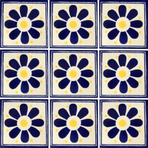 Daisy May 3 Mexican Ceramic Tile