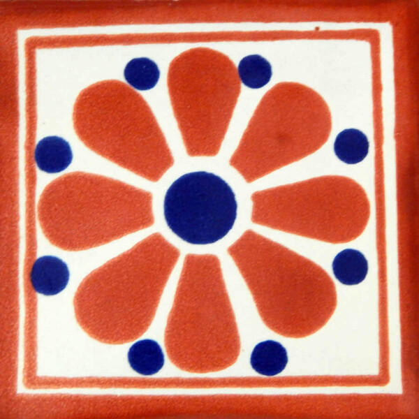 Daisy May 4 Mexican Ceramic Tile