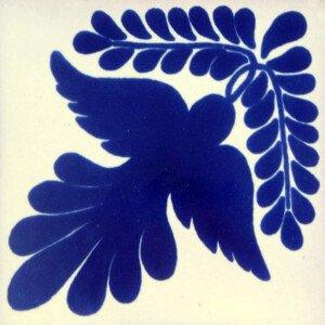 Blue Guia Fly Mexican Ceramic Talavera Tile