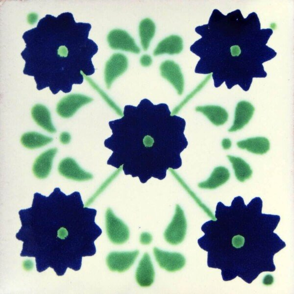 Green Margarita Mexican Ceramic Tile