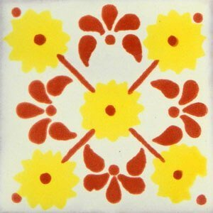 Yellow Margarita Mexican Ceramic Tile