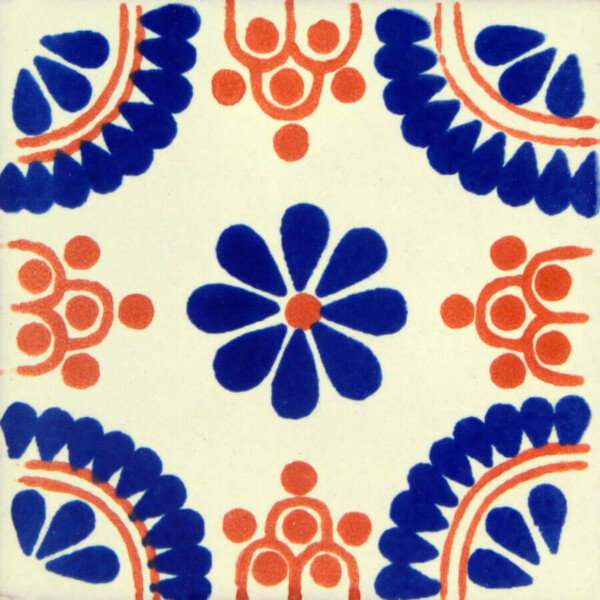 Blue Terracotta Madrid Mexican Ceramic Talavera Tile