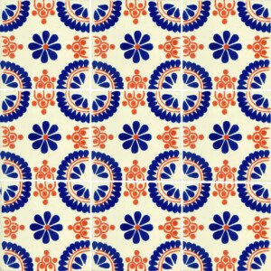 Blue Terracotta Madrid Mexican Ceramic Talavera Tile