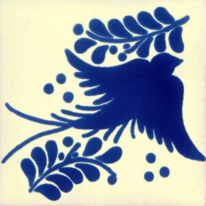 Blue Dove Mexican Ceramic Tile