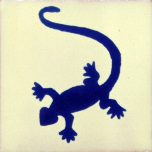 Blue Lizard Mexican Ceramic Talavera Tile